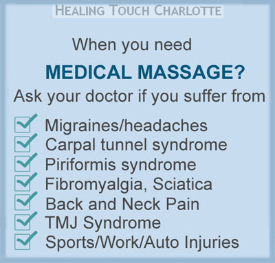 Medical Massage at Healing Touch Charlotte