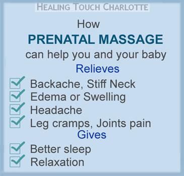 Prenatal Massage for pregnant women at Healing Touch Charlotte
