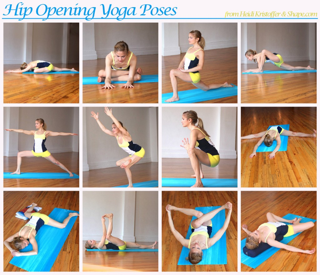 Hip Opening poses by Heidi Kristoffer on Shape